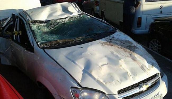 Acidente teria acontecido após motorista se assustar com cachorro e perder controle da direção - Foto: Aldo Matos | Acorda Cidade