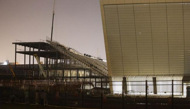 Palco da abertura da Copa será entregue ainda no mês de abril, garante a vice-prefeita - Foto: Nacho Doce | Agência Reuters