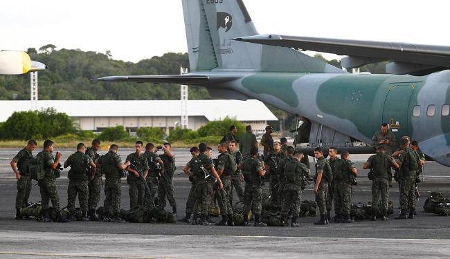 Tropas chegaram a Salvador no dia 16 - Foto: Eduardo Martins | Ag. A TARDE