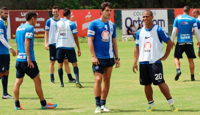 Anderson Talisca e Rhayner permaneceram mais uma vez na academia e não participaram de rachão - Foto: Esporte Clube Bahia | Divulgação
