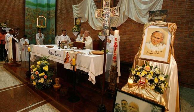 Paróquia dos Alagados é a primeira do mundo dedicada à São João Paulo II - Foto: Luciano da Mata   Ag. A TARDE