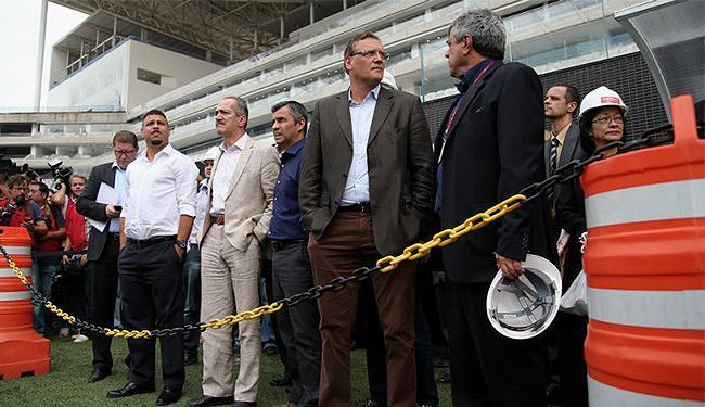 Após visita de Valcke, foi revelado que o Itaquerão terá capacidade para 50 mil espectadores - Foto: Friedmann Vogel l FIFA