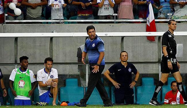 Marquinhos Santos, técnico do Bahia: 'Foi importante sair na frente, mas é um resultado perigoso' - Foto: Eduardo Martins | Ag. A TARDE