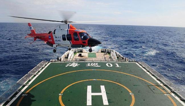 Navio de patrulha chinês Haixun 01 está no Oceano Índico na busca pelo avião - Foto: Chen Weiwei   Xinhua
