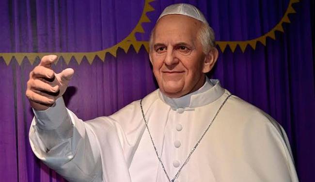 Estátua de cera do Papa será exposta ao público - Foto: Divulgação