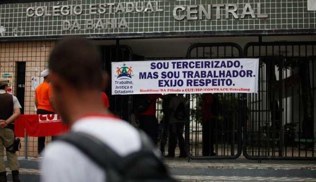 No interior, a paralisação ocorreu em dez colégios - Foto: Edilson Lima | Ag. A TARDE