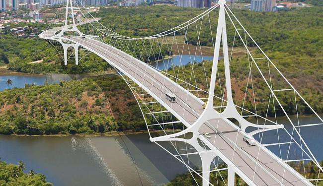 Simulação mostra como seria a ponte sobre Pituaçu - Foto: Secom | Divulgação