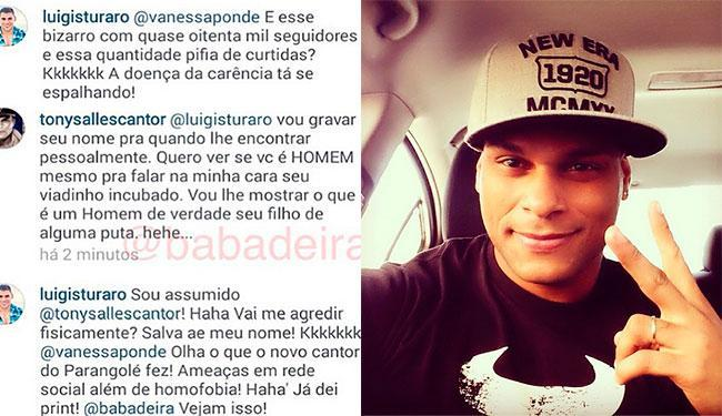 O cantor e o modelo se desentenderam nas redes sociais - Foto: Reprodução | Instagram
