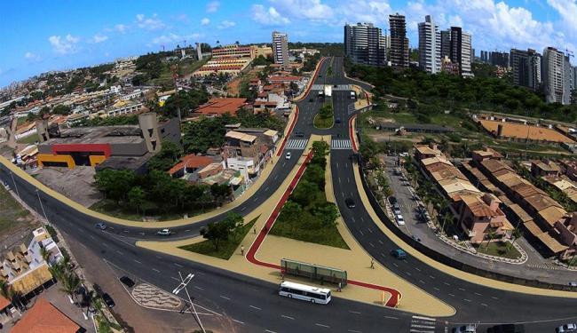 Projeção de como ficará avenida quando obra for finalizada - Foto: Divulgação