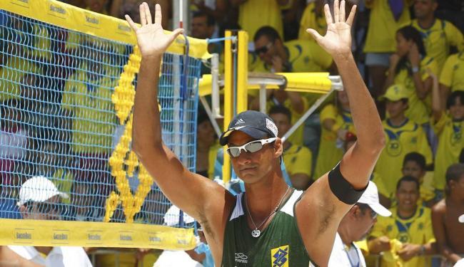 Baiano Ricardo é um dos favoritos para conquistar o título ao lado do parceiro Márcio - Foto: Eduardo Martins | Ag. A TARDE