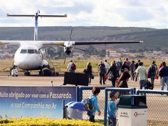 Voos que iriam sair do aeroporto de Vitória da Conquista (foto) foram cancelados - Foto: José Silva | Arquivo | Ag. A TARDE