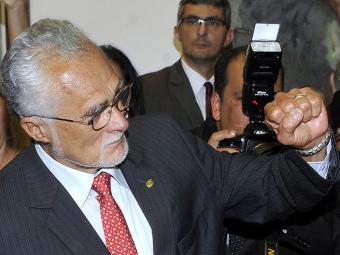 O ex-deputado compareceu na penitenciária no DF, em cumprimento à decisão do presidente do STF - Foto: Valter Campanato l Agência Brasil