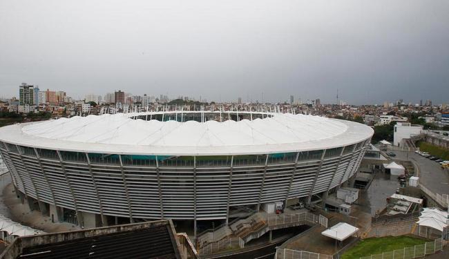 Fifa inicia últimos ajustes na Arena Fonte Nova. Alterações serão realizadas em locais que permitem - Foto: Lácio Távora | Ag. A TARDE
