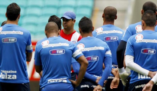 Marquinhos Santos comandou treino na Arena Fonte Nova - Foto: Divulgação| E.C. Bahia