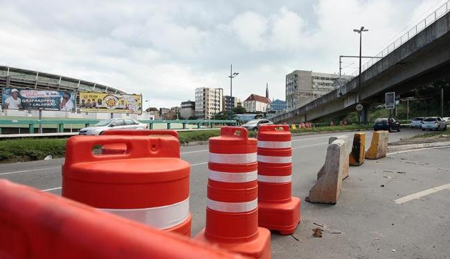 Barreiras e desvios serão criados no entorno da Arena Fonte Nova - Foto: Mila Cordeiro | Ag. A TARDE | 03.06.2013