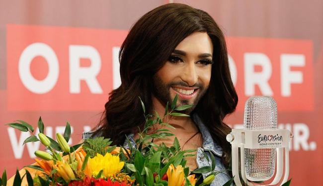Conchita Wurst foi a vencedora do festival de música Eurovisión - Foto: Leonhard Foeger | Agência Reuters