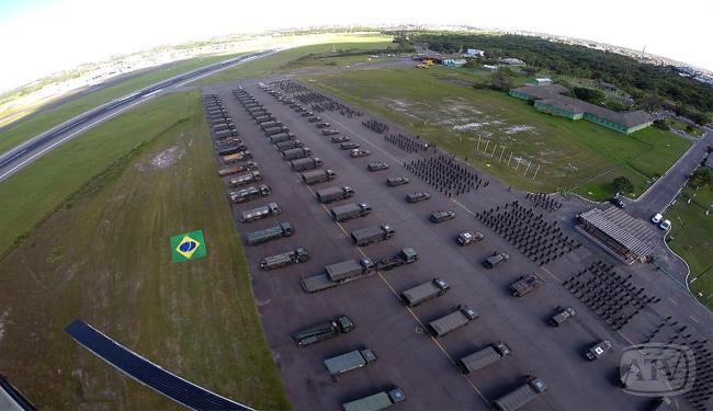 Veículos que patrulharão a Bahia na Copa foram mostrados de cima - Foto: Luciano da Matta | Ag. A TARDE