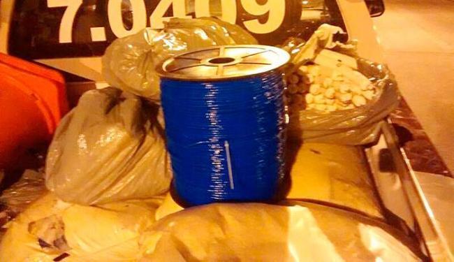 Os artefatos seriam utilizados para explodir de caixas eletrônicos - Foto: Ascom | PM