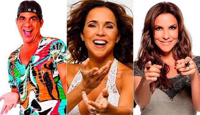 Durval Lelys, Daniela Mercury e Ivete Sangalo são as atrações do programa desta terça, 20 - Foto: Divulgação