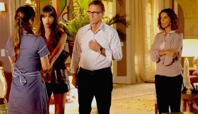 Ricardo e Giselle descobrem plano de Branca - Foto: Reprodução | TV Globo