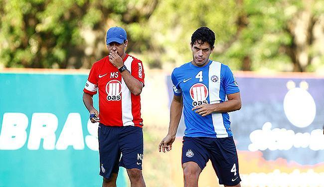 Fahel é um dos homens de confiança do técnico Marquinhos Santos no meio-campo - Foto: Eduardo Martins   Ag. A TARDE
