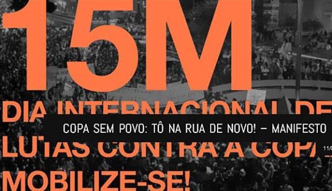 Convocação do manifesto - Foto: Comitê Popular da Copa | Divulgação