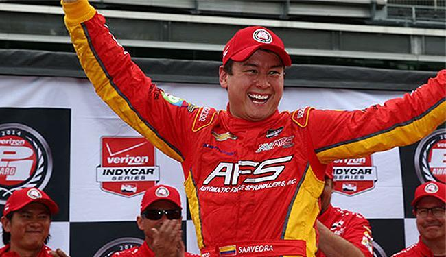 Sebastian Saavedra desbanca favoritos e larga na frente em Indianápolis - Foto: Divulgação l IndyCar
