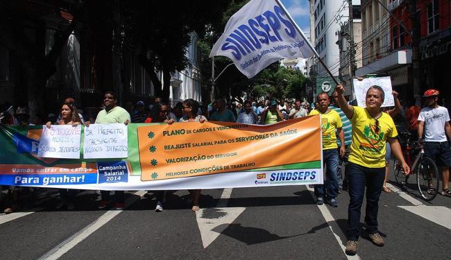 Trabalhadores se reuniram em passeata no último dia 24 de abril na Avenida Sete - Foto: Sindseps   Divulgação
