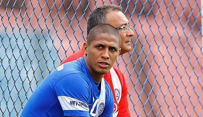 Uelliton está vetado pelo DM e não enfrenta o Santos em Feira - Foto: Eduardo Martins | Ag. A TARDE