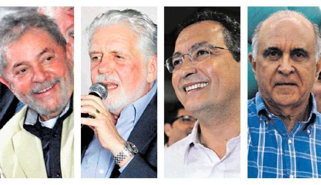 Governistas - como Lula, Wagner e Rui Costa - e oposição, com Souto, trocam críticas - Foto: Lúcio Távora, Margarida Neide e Luiz Tito | Ag. A TARDE