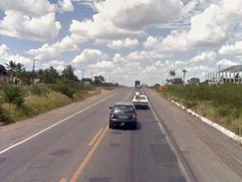 Pontos com quebra-molas são alvo de assaltantes do bairro de Novo Horizonte - Foto: Reprodução   Google Maps