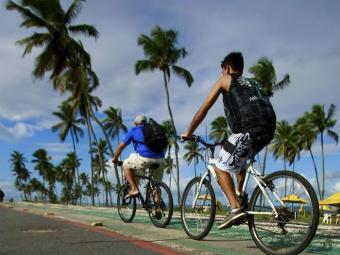 A ação tem como objetivo estimular o uso da bike durante o mundial, especialmente nos dias de jogos - Foto: Fernando Vivas | Ag. A TARDE