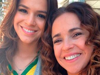 Bruna e Daniela se encontraram na entrada do Mineirão - Foto: Reprodução | Instagram