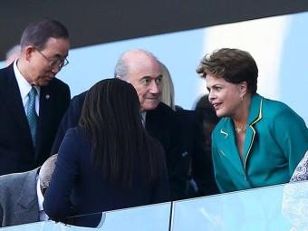 Dilma foi alto de xincamento na abertura da Copa do Mundo - Foto: Wagner Carmo   Agência Estado