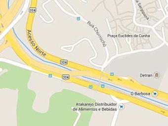 Acidente aconteceu na Avenida ACM, sentido Rótulo do Abacaxi, próximo a estação Acesso Norte - Foto: Google Maps | Reprodução