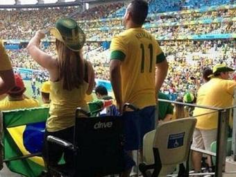 Polícia investiga imagens de torcedores em cadeiras para pessoas com deficiência - Foto: Reprodução | Twitter