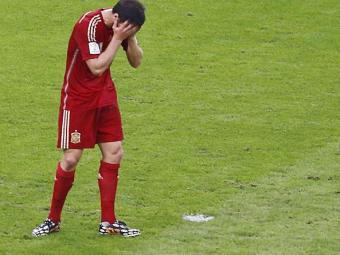 Xabi Alonso após a derrota para o Chile - Foto: Agência Reuters