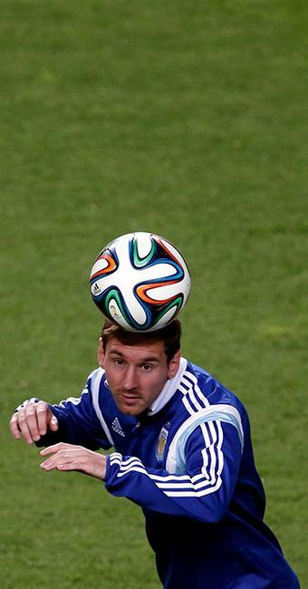 Lionel Messi em treinamento no Independência, em BH, Minas - Foto: Sergio Perez | Agência Reuters