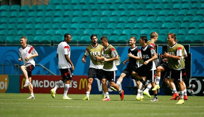 Alemanha treinou neste domingo, 15, na Fonte Nova - Foto: Raul Spinassé | Ag. A TARDE