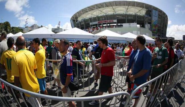Nos arredores da Arena Fonte Nova, 19 foram detidos - Foto: Raul Spinassé | Ag. A TARDE