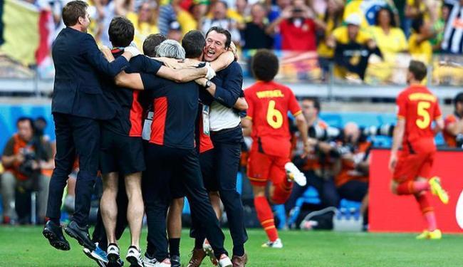 Jogadores e comissão técnica comemoram o triunfo - Foto: Dominic Ebenbichler   Agência Reuters