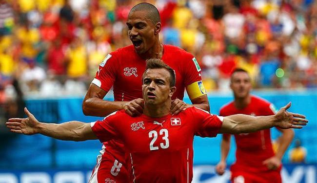 Shaqiri foi o autor de todos os gols da partida contra Honduras - Foto: Michael Dalder | Reuters