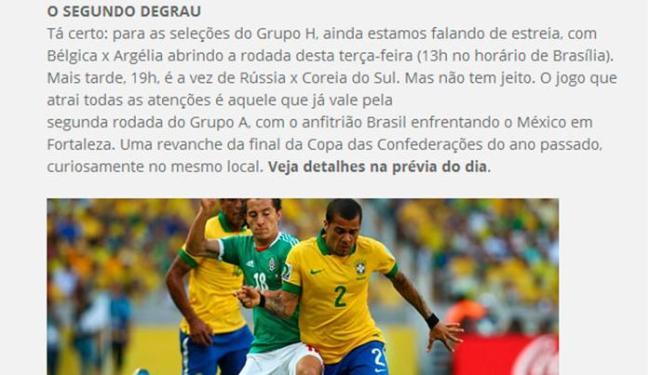 Fifa errou ao dizer que o Brasil venceu o México na Copa das Confederações - Foto: Reprodução | Fifa