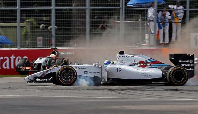 Segundo investigação dos fiscais da prova, acidente foi erro de mexicano e não de Massa - Foto: Mathieu Belanger l Reuters