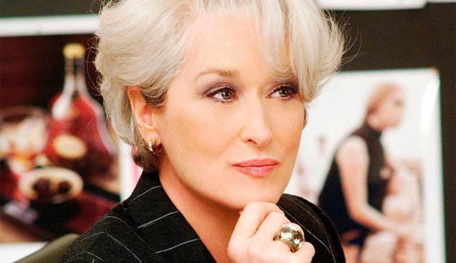 Meryl Streep em cena do filme O Diabo Veste Prada - Foto: Divulgação