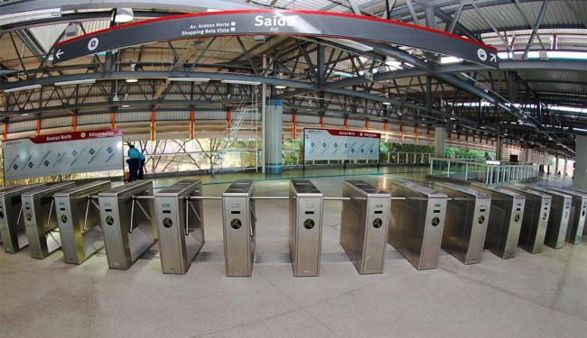 Estação Acesso Norte, próxima ao shopping Bela Vista, foi alvo de crítica de leitor - Foto: Divulgação | Manu Dias | Secom
