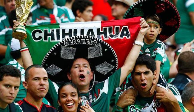 Muitos mexicanos vieram ao Brasil para acompanhar a Copa - Foto: Paul Hanna   Agência Reuters