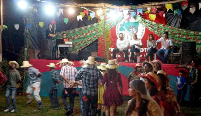 Movimento resgatou tradição junina com uma festa típica no acampamento Estrela Vive, em Feira - Foto: Vitor Fernandes | Divulgação