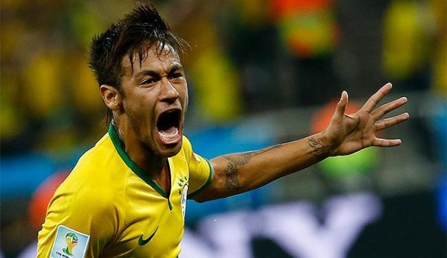 Neymar, autor de dois gols, foi o destaque da partida no Itaquerão - Foto: Damir Sagolj l Reuters