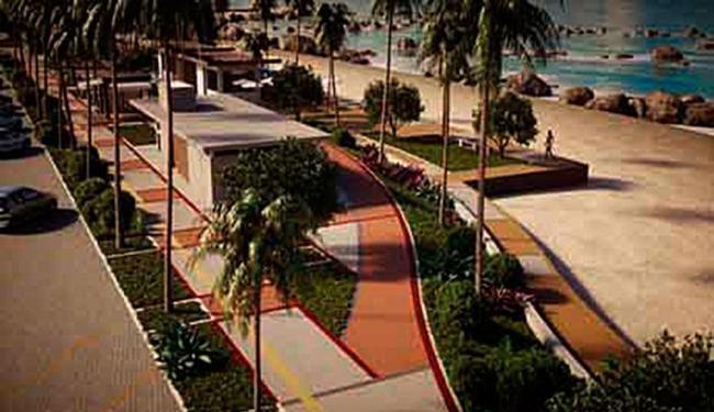 Projeção de como vai ficar a orla de Itapuã - Foto: Divulgação   Prefeitura